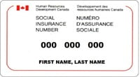 Social Insurance Number Template Psd Canada Editable Sin In 2020